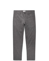 Мужские серые шерстяные классические брюки от Nn07