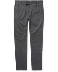 Мужские серые шерстяные классические брюки от Oliver Spencer