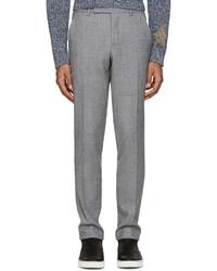 Мужские серые шерстяные классические брюки от Paul Smith