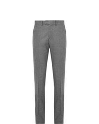 Мужские серые шерстяные классические брюки от Salle Privée