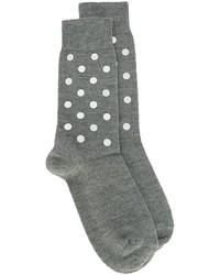 Женские серые шерстяные носки с принтом от No.21