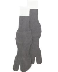 Мужские серые шерстяные носки от Maison Margiela