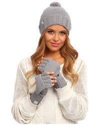 Серые шерстяные перчатки