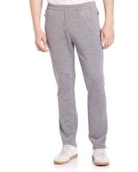 Серые шерстяные спортивные штаны