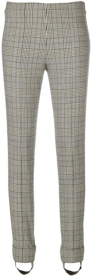 Серые шерстяные узкие брюки с принтом от Ermanno Scervino