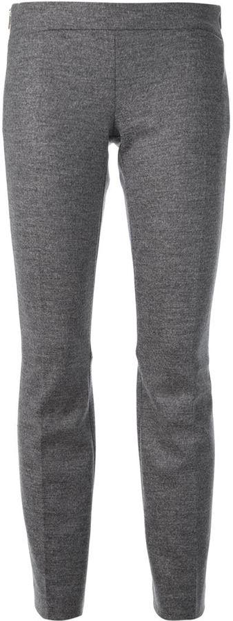 Серые шерстяные узкие брюки от Dsquared2