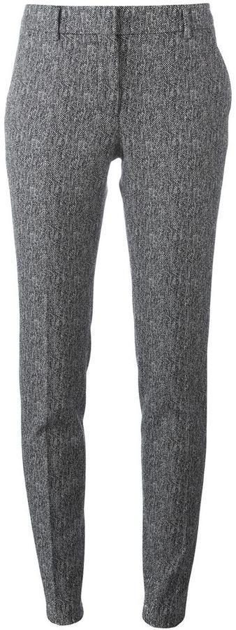 Серые шерстяные узкие брюки от Incotex