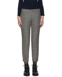 Серые шерстяные узкие брюки от Thom Browne