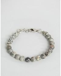 Мужской серый браслет из бисера от Seven London