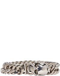 Мужской серый браслет от Alexander McQueen