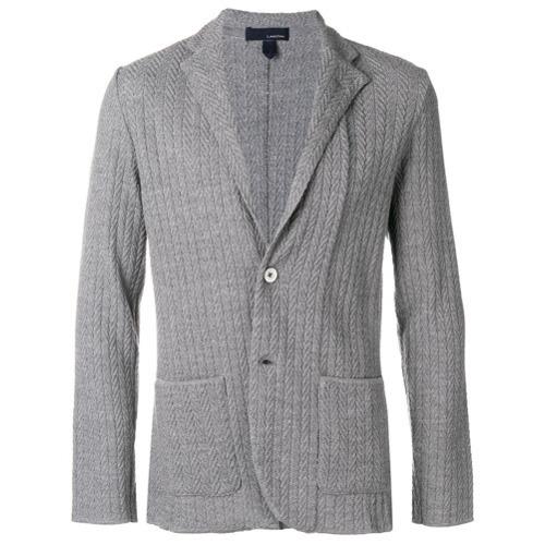 мужской серый вязаный пиджак от Lardini 23 583 руб Farfetchcom