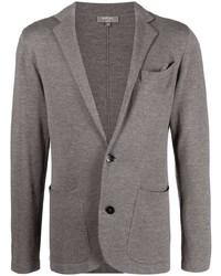 Мужской серый вязаный пиджак от N.Peal