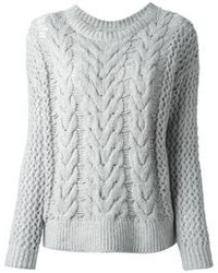 серый вязаный свитер original 1336335