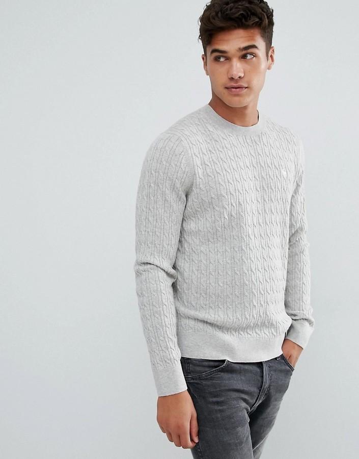 dbec38b50a6 ... Мужской серый вязаный свитер от Abercrombie   Fitch ...