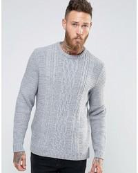 Мужской серый вязаный свитер от Asos