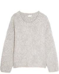 Женский серый вязаный свободный свитер от Chloé