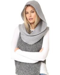 Женский серый вязаный шарф от Kate Spade
