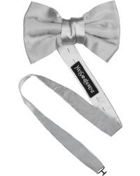 Серый галстук-бабочка