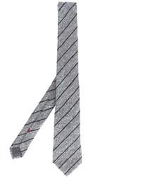 Мужской серый галстук в вертикальную полоску от Brunello Cucinelli
