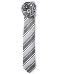 Мужской серый галстук в вертикальную полоску от Jil Sander