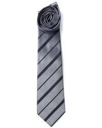 Серый галстук в горизонтальную полоску