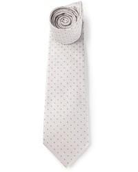 Серый галстук в горошек