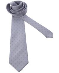 Мужской серый галстук в горошек от Pierre Cardin