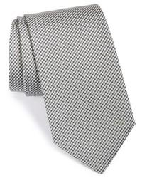 Серый галстук в клетку