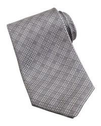 Серый галстук в шотландскую клетку
