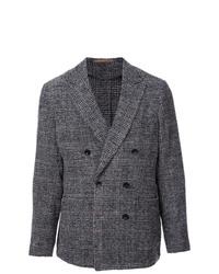 Мужской серый двубортный пиджак в шотландскую клетку от TOMORROWLAND