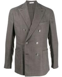Мужской серый двубортный пиджак от Boglioli