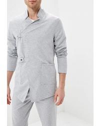 Мужской серый двубортный пиджак от DuckyStyle