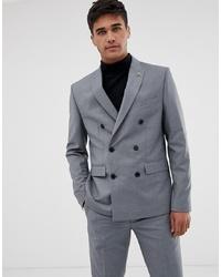 Мужской серый двубортный пиджак от Farah Smart