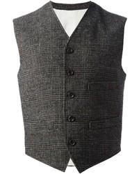 Мужской серый жилет в шотландскую клетку от Dolce & Gabbana