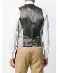 Серый жилет от Dell'oglio