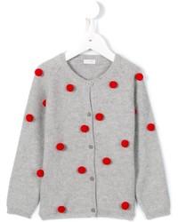 Детский серый кардиган для девочке от Il Gufo