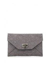 Серый кожаный клатч от Dorothy Perkins Curve
