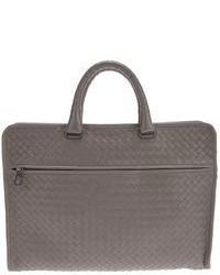 Серый кожаный портфель