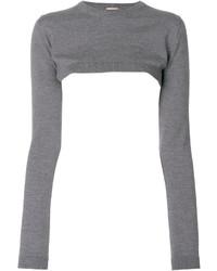 Женский серый короткий свитер от No.21