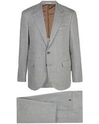Серый костюм от Brunello Cucinelli
