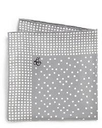 Серый нагрудный платок с принтом