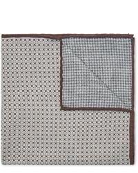 Серый нагрудный платок с принтом от Brunello Cucinelli