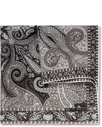 Серый нагрудный платок с принтом от Etro