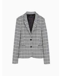 Серый пиджак в шотландскую клетку