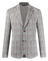 Мужской серый пиджак в шотландскую клетку от Daniele Alessandrini