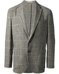 """Серый пиджак с узором """"гусиные лапки"""""""