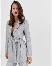 Женский серый пиджак с украшением от ASOS EDITION