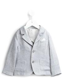 Детский серый пиджак для мальчику от Armani Junior