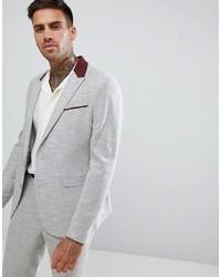 Мужской серый пиджак от ASOS DESIGN