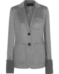 Женский серый пиджак от J.Crew